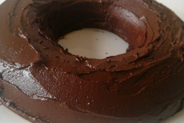 Bolo fit de chocolate com banana